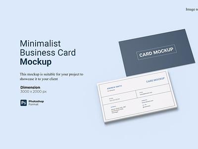 Minimalist Business Card Mockup Cover showcase