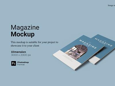 Realistic Magazine Mockup Cover Preview showcase 3d