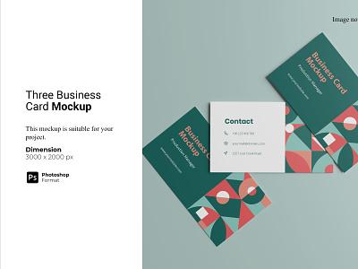 Three Business Card Mockup 3d