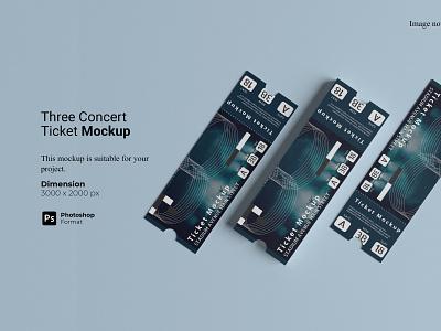 Three Concert Ticket Mockup