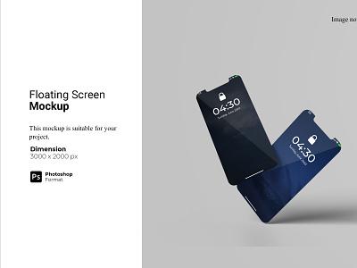 Floating Screen Smartphone Mockup
