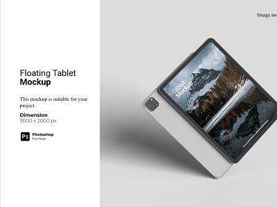 Floating Tablet Mockup