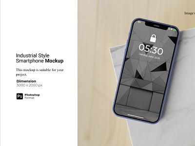 Industrial Style Smartphone Mockup