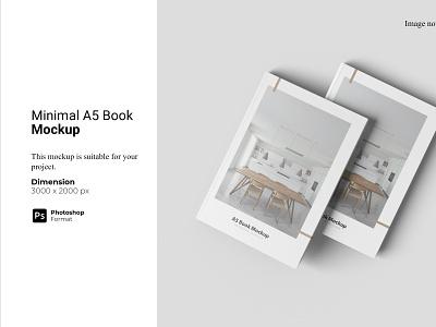 Minimal A5 Book Mockup