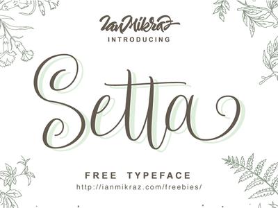 Setta Script Free Typeface