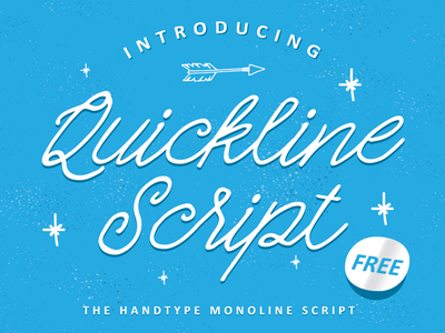 Quickline Script Free Typeface typography lettering calligraphy typeface font freebies free fonts