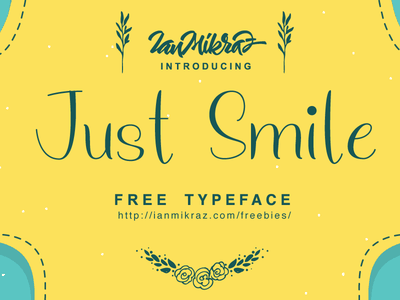 Just Smile Free Typeface typography lettering calligraphy typeface font freebies free fonts