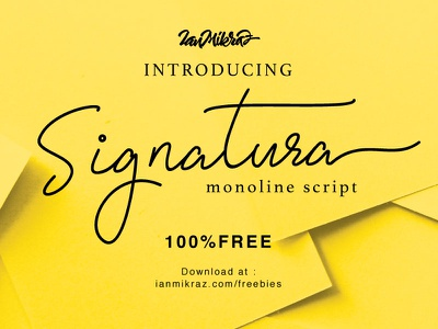Signatura Monoline Free Typeface typography lettering calligraphy typeface font freebies free fonts