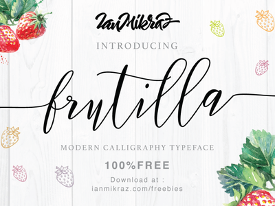 Frutilla Script Free Typeface typography lettering calligraphy typeface font freebies free fonts