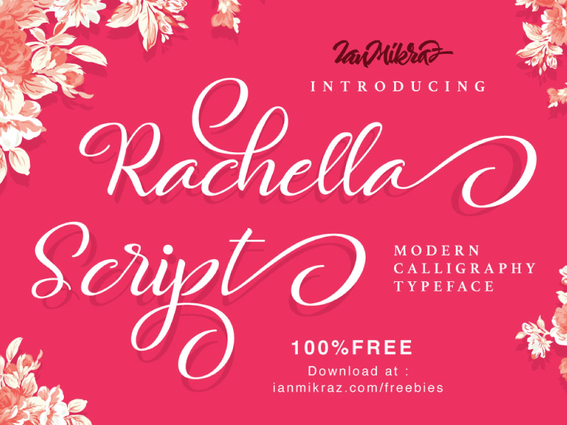 Rachella Script Free Typeface typography lettering calligraphy typeface font freebies free fonts