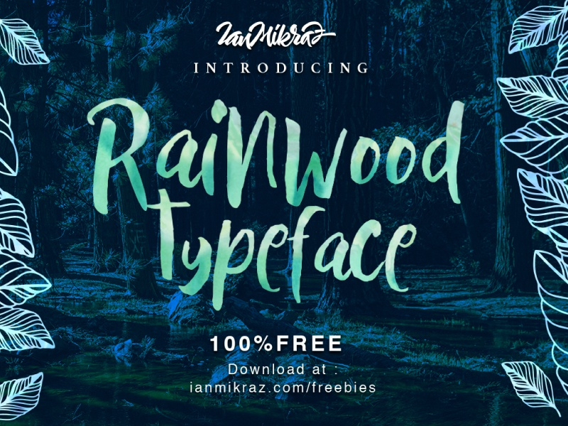 Rainwood Cover Preview Dribbblr typography lettering calligraphy typeface font freebies free fonts