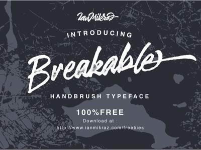 Breakable Free Typeface script free font freebies freebie typeface font free