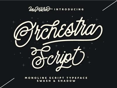 Orchestra Script Preview Dribbble typography calligraphy lettering logo script monoline typeface font