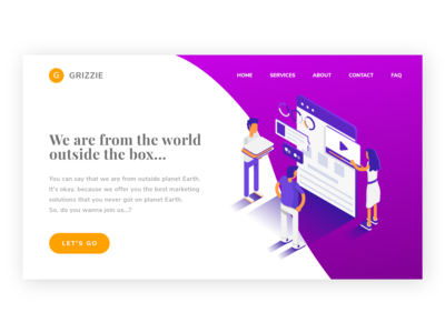 UI Exploration - Grizzie Landing Page