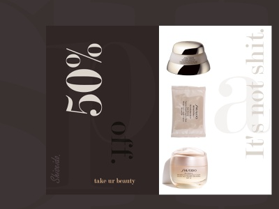 Shiseido print flyer typography branding affinity graphic design design