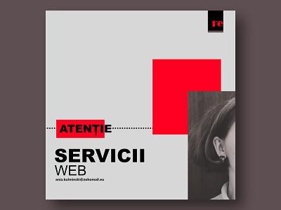 Servicii* affinity ui website design website ui design typography web design branding design graphic design