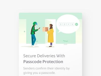 Safe Delivery helmet indonesia illustration art popup sender recipient passcode secure delivery grabexpress grab