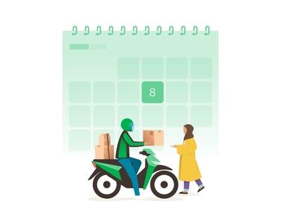 Scheduled Delivery delivery delivery app parcel motorbike bike rider grabexpress grab sender jakarta indonesia scheduled