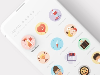 Grab Driver Complimentary Badge wheel helpful matched route personality grabshare friendly gps navigator compass trophy well prepared candy music comfort tidy icon illustration grab complimentary