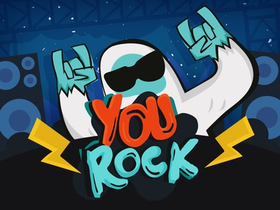You Rock!  drawings design rock yetti illustrations