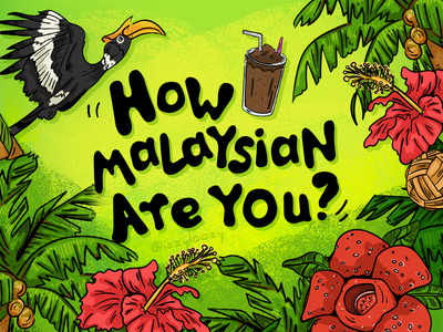 How Malaysian Are You drawing illustrations green food malaysia