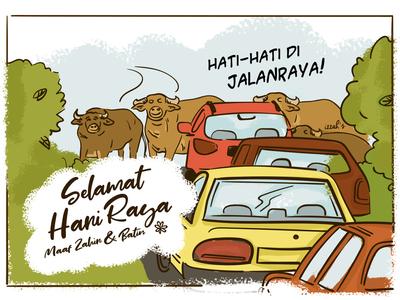 Traffic on Hari Raya