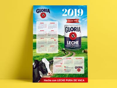 Gloria Company 2019 Calendar Design