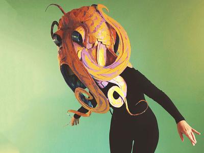 Odette the Octopus! kids book animals sculpture cardboard masks hand made