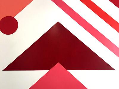 Modern Mural - Center St. coffee branding modern mural abstraction geometric
