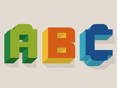 ABC Duplo! 3d typography duplo illustration