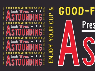 The Astounding Good Fortune Coffee Co. ! hand drawn lettering living wage fair trade distressed aotearoa good fortune coffee co letters coffee vintage typography design branding