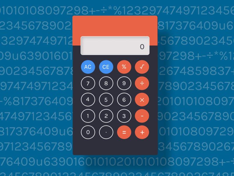 Calculator challenge calculator dailyui 004 daily ui