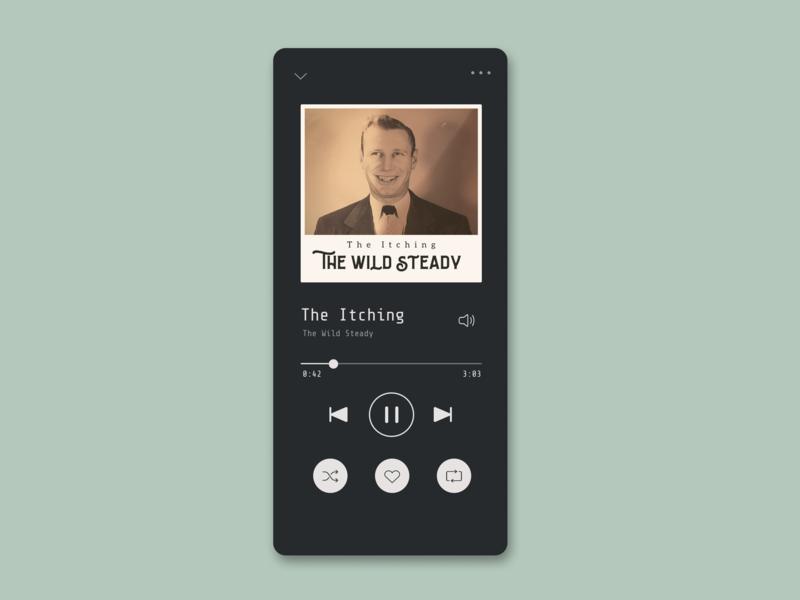 Music player UI music app music player dailyui daily ui