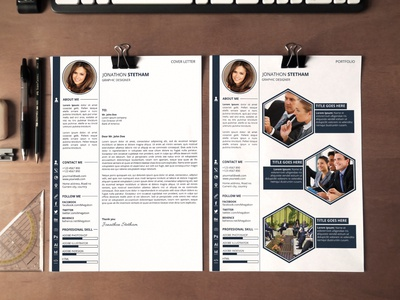 Resume, cover letter and Portfolio