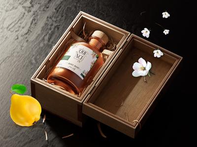 brandy quince label design