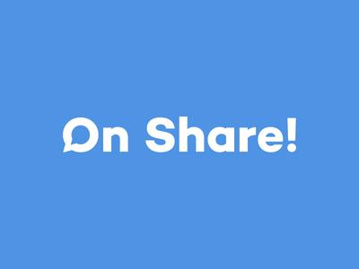 On Share! logotype social media social on share share on