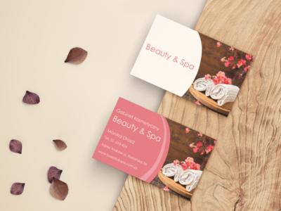business card Beauty & Spa design business card design business card