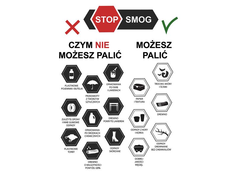 Stop smog design poster illustration
