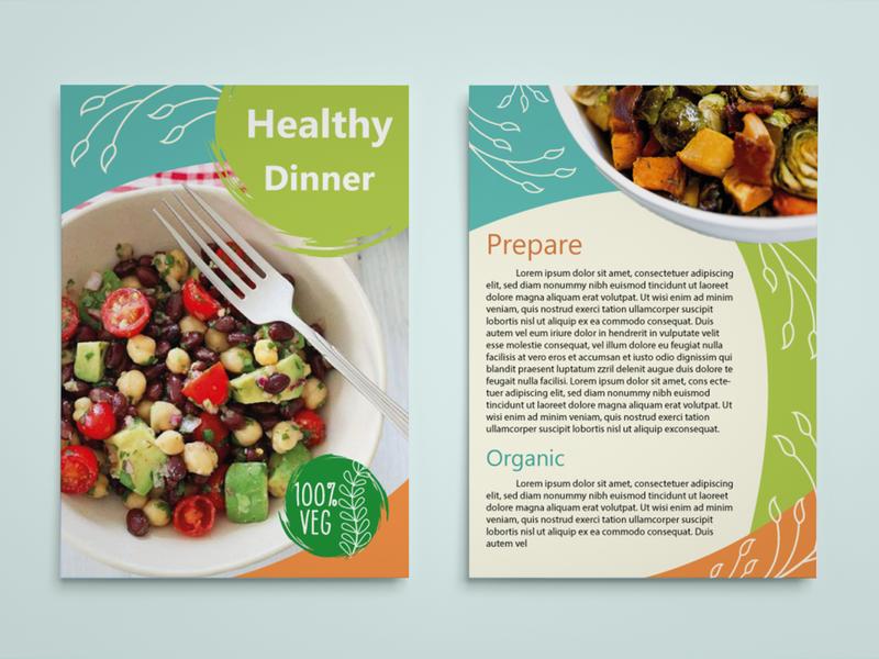 Leaflet Healthy Dinner leaflet design design