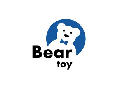 logo Bear toy design logo