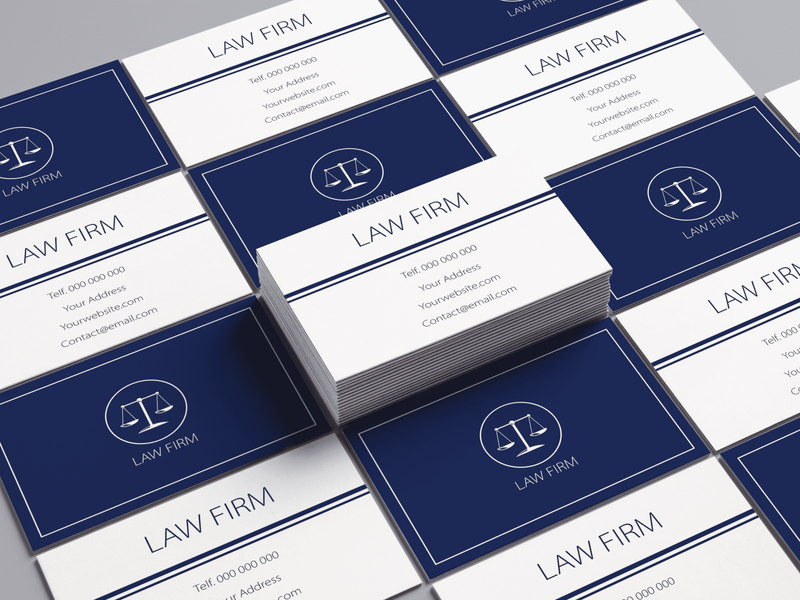 business card law firm business card design