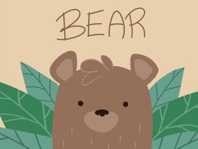 Bear design illustration
