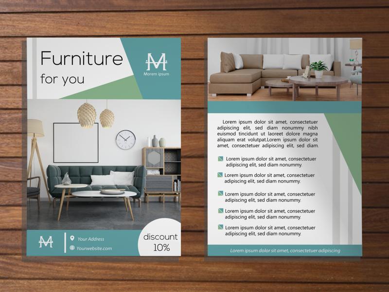 Leaflet Furniture design leaflet design