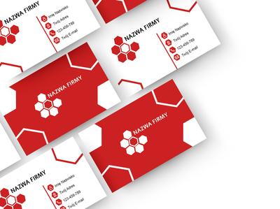 Business Cards Mockup czerwona