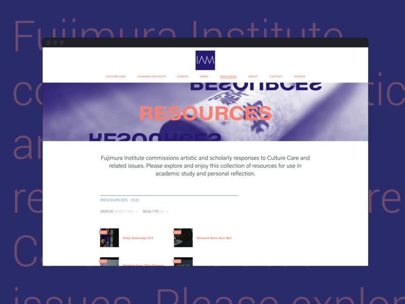 International Arts Movement branding web design typography
