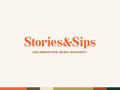 Stories & Sips - Unused Concept ireland irish whiskey whiskey identity branding