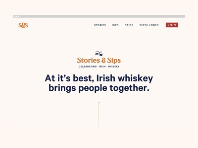 Stories & Sips ireland irish whiskey whiskey identity brand digital