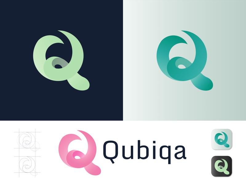 Qubiqa business logo company logo branding q letter symbol modern design modern logo app icon logo mark clean logo minimalist logo