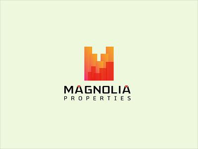 Magnolia Properties favicon app icon logo versatile logo minimal logo creative logo awesome logo flat logo minimalist logo real estate logo business identity logodesign modern logo