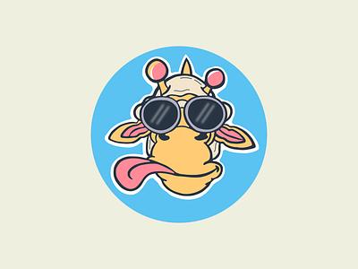 Giraffe flat logo clean logo graphic design illustration design minimalist logo awesome logo animal branding logo
